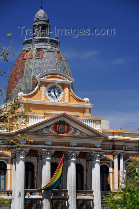 bolivia74: La Paz, Bolivia: Palacio Legislativo - hosts the National Congress, a bicameral parliament consisting of a lower house, the Chamber of Deputies, and an upper house, the Senate - Plaza Murillo - photo by M.Torres - (c) Travel-Images.com - Stock Photography agency - Image Bank