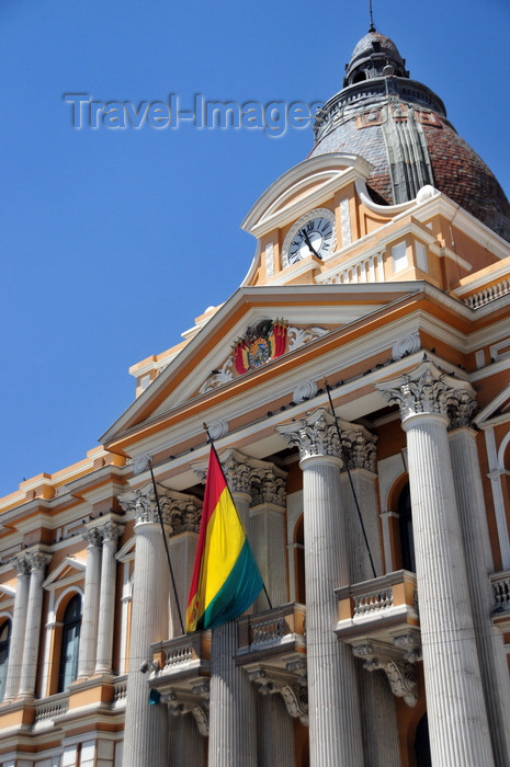 bolivia81: La Paz, Bolivia: Palacio Legislativo - the Parliament's neo-classical façade with Corinthian columns - Plaza Murillo - photo by M.Torres - (c) Travel-Images.com - Stock Photography agency - Image Bank