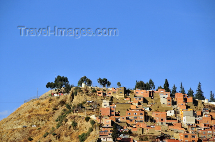 bolivia9: El Alto, La Paz department, Bolivia: hill top dwellings - makeshift barrio of cuboid houses - photo by M.Torres - (c) Travel-Images.com - Stock Photography agency - Image Bank