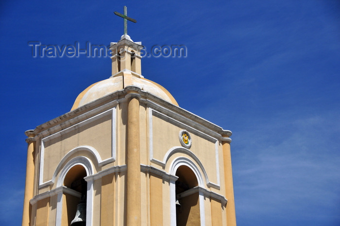 bolivia91: La Paz, Bolivia: bell tower of La Merced church - built in 1548 - Spanish colonial architecture - calle Colón - photo by M.Torres - (c) Travel-Images.com - Stock Photography agency - Image Bank