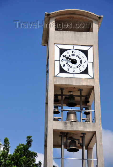 botswana45: Gaborone, South-East District, Botswana: National Assembly of Botswana - clock and bell tower - Government Enclave - photo by M.Torres - (c) Travel-Images.com - Stock Photography agency - Image Bank