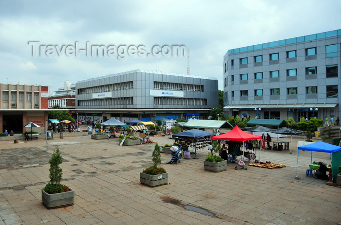 botswana51: Gaborone, South-East District, Botswana: Main Mall - Barclays, Central Post Office - photo by M.Torres - (c) Travel-Images.com - Stock Photography agency - Image Bank