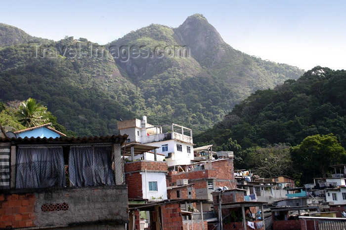 brazil146: Brazil / Brasil - Rio de Janeiro: Vila Canoas Favela - slum - the view / a vista - photo by N.Cabana - (c) Travel-Images.com - Stock Photography agency - Image Bank