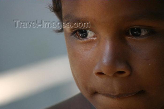 brazil171: Brazil / Brasil - Urubu river: indian boy - Aruaque (photo by N.Cabana) - (c) Travel-Images.com - Stock Photography agency - Image Bank