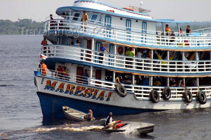 brazil177: Brazil / Brasil - Manaus: ferry on the Amazonas - the Maresia - Barcos Regionais (photo by N.Cabana) - (c) Travel-Images.com - Stock Photography agency - Image Bank