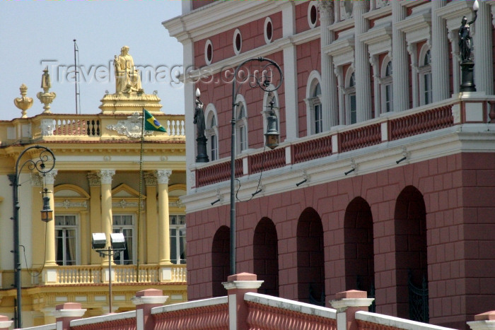 brazil183: Brazil / Brasil - Manaus / MAO (Amazonas): the Opera and the court / Palácio da Justiça (photo by N.Cabana) - (c) Travel-Images.com - Stock Photography agency - Image Bank