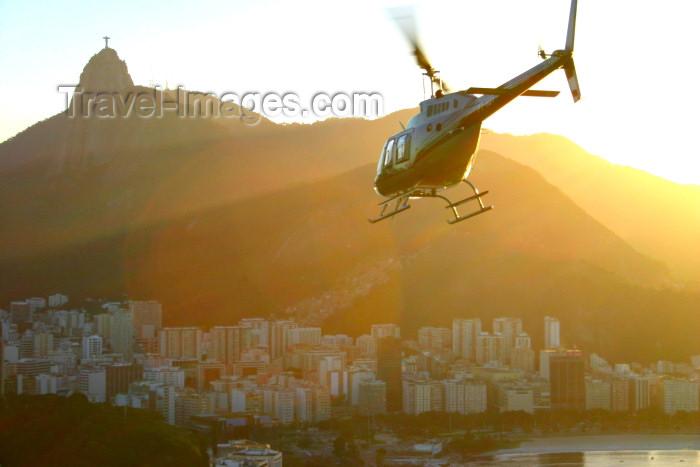 brazil192: Brazil / Brasil - Rio de Janeiro: Pão de Açucar - helicopter - photo by N.Cabana - (c) Travel-Images.com - Stock Photography agency - Image Bank