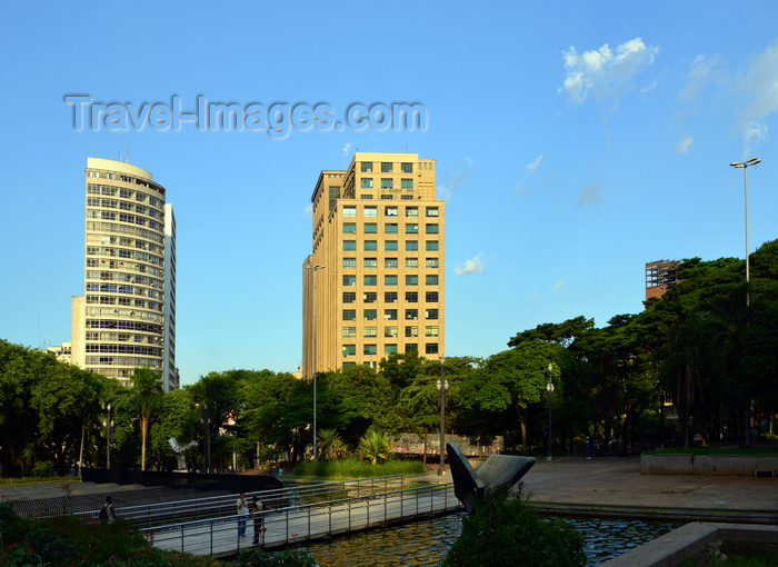 brazil196: São Paulo, Brazil: reflecting pond at Praça da Sé - photo by M.Torres - (c) Travel-Images.com - Stock Photography agency - Image Bank
