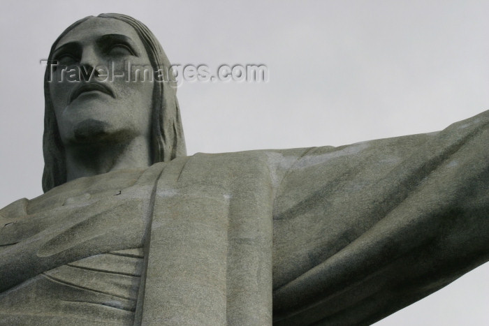 brazil198: Brazil / Brasil - Rio de Janeiro: Corcovado - Jesus  Christ the Redeemer statue -  Art Deco-style statue designed by architect Paul Landowsky / estatua do Cristo Redentor - Corcovado - photo by N.Cabana - (c) Travel-Images.com - Stock Photography agency - Image Bank