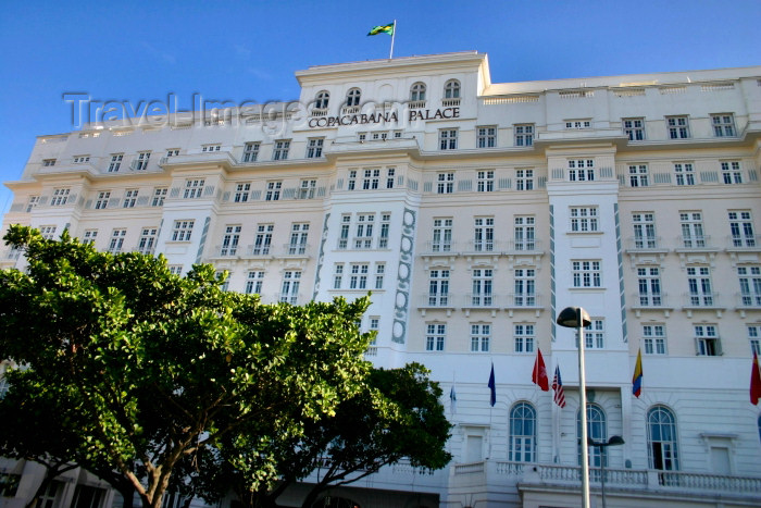 brazil199: Brazil / Brasil - Rio de Janeiro: Copacabana Palace hotel - 5 star luxury on Avenida Atl&#226;ntica - photo by N.Cabana - (c) Travel-Images.com - Stock Photography agency - Image Bank