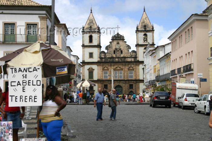 brazil202: Brazil / Brasil - Salvador (Bahia): Terreiro de Jesus - Igreja de São Francisco / São Francisco church - photo by N.Cabana - (c) Travel-Images.com - Stock Photography agency - Image Bank