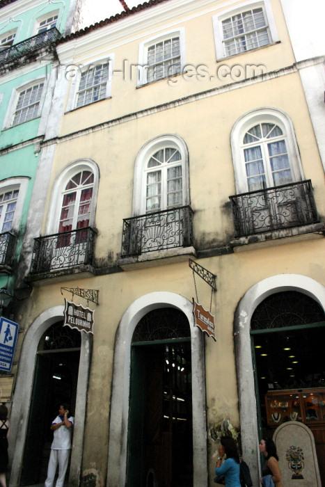 brazil204: Brazil / Brasil - Salvador (Bahia): Hotel Pelourinho - Rua das Portas do Carmo - photo by N.Cabana - (c) Travel-Images.com - Stock Photography agency - Image Bank