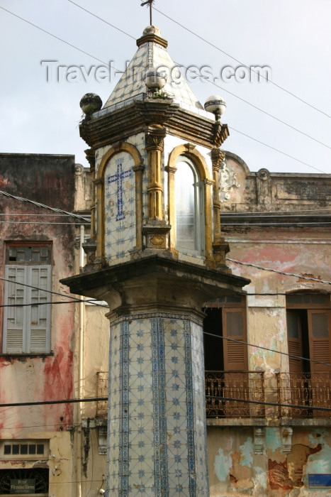 brazil207: Brazil / Brasil - Salvador (Bahia): tiled pillory - old town / pelourinho com azulejos - photo by N.Cabana - (c) Travel-Images.com - Stock Photography agency - Image Bank