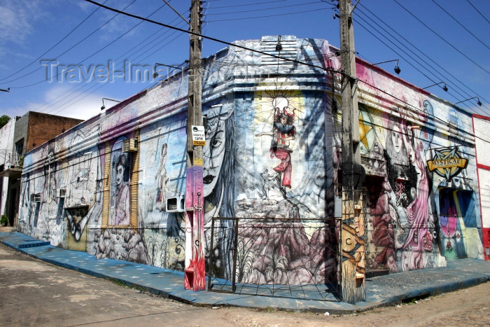 brazil215: Brazil / Brasil - Fortaleza (Ceará): bars district during the day - photo by N.Cabana - (c) Travel-Images.com - Stock Photography agency - Image Bank