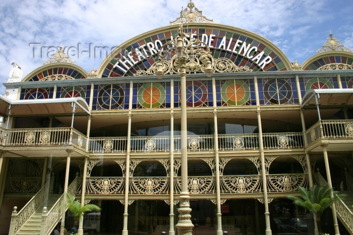 brazil216: Brazil / Brasil - Fortaleza (Ceará): José de Alencar theatre / Teatro José de Alencar - art deco in cast iron from Scotland - ferro fundido - photo by N.Cabana - (c) Travel-Images.com - Stock Photography agency - Image Bank
