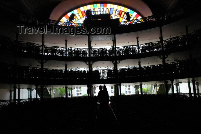 brazil217: Brazil / Brasil - Fortaleza (Ceará): José de Alencar theatre / Teatro José de Alencar - interior - against the light - photo by N.Cabana - (c) Travel-Images.com - Stock Photography agency - Image Bank