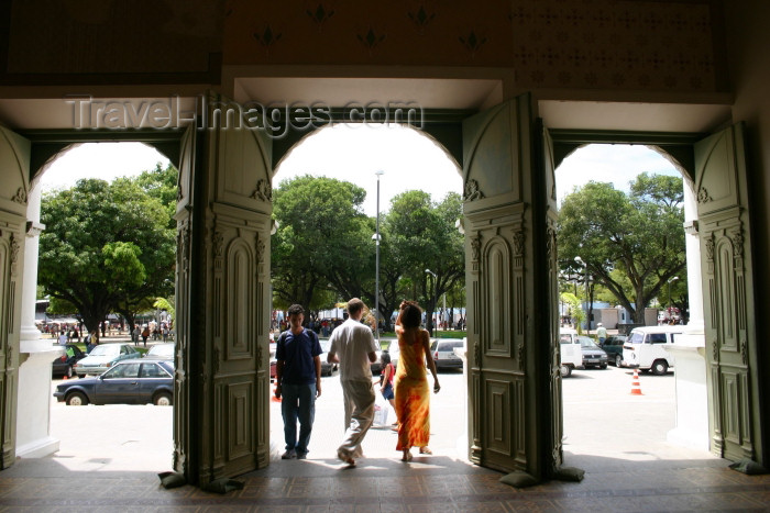 brazil218: Brazil / Brasil - Fortaleza (Ceará): José de Alencar theatre / Teatro José de Alencar - entrance - entrada - photo by N.Cabana - (c) Travel-Images.com - Stock Photography agency - Image Bank