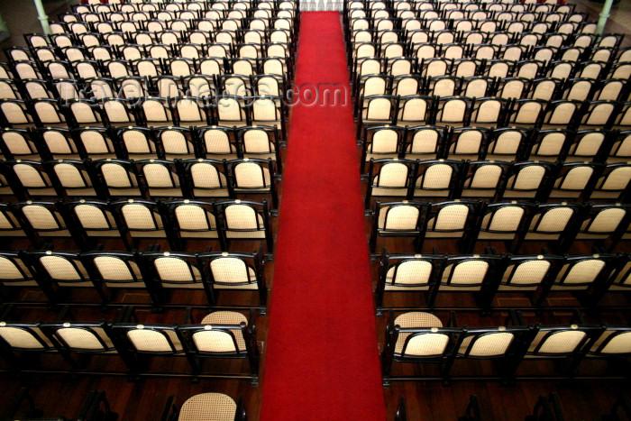 brazil219: Brazil / Brasil - Fortaleza (Ceará): José de Alencar theatre - seating area - projeto arquitetônico básico do tenente Bernardo José de Melo - photo by N.Cabana - (c) Travel-Images.com - Stock Photography agency - Image Bank