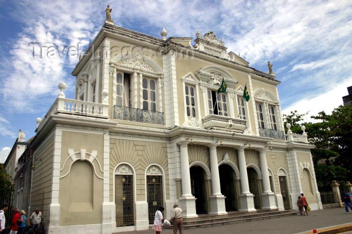 brazil220: Brazil / Brasil - Fortaleza (Ceará): José de Alencar theatre / Teatro José de Alencar - façade - fachada - Theatro - Praça José de Alencar - photo by N.Cabana - (c) Travel-Images.com - Stock Photography agency - Image Bank