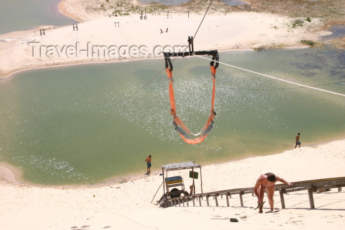brazil226: Brazil / Brasil - Fortaleza (Ceará): praia da Canoa Quebrada - beach - ascending - dunes - dunas - photo by N.Cabana - (c) Travel-Images.com - Stock Photography agency - Image Bank