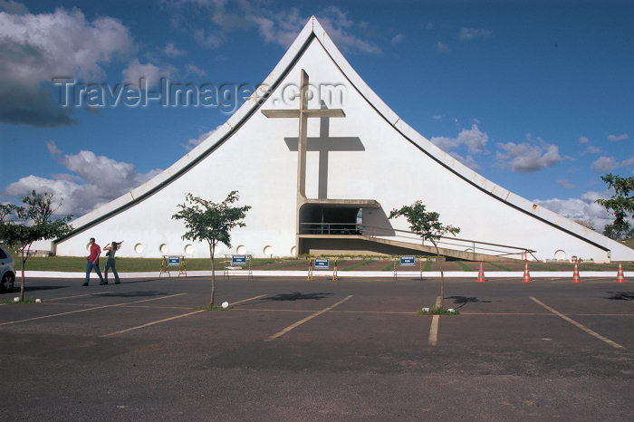 brazil308: Brazil / Brasil - Brasilia: the Peace Cathedral -  Catedral Militar Nossa Senhora Rainha da Paz - photo by M.Alves) - (c) Travel-Images.com - Stock Photography agency - Image Bank