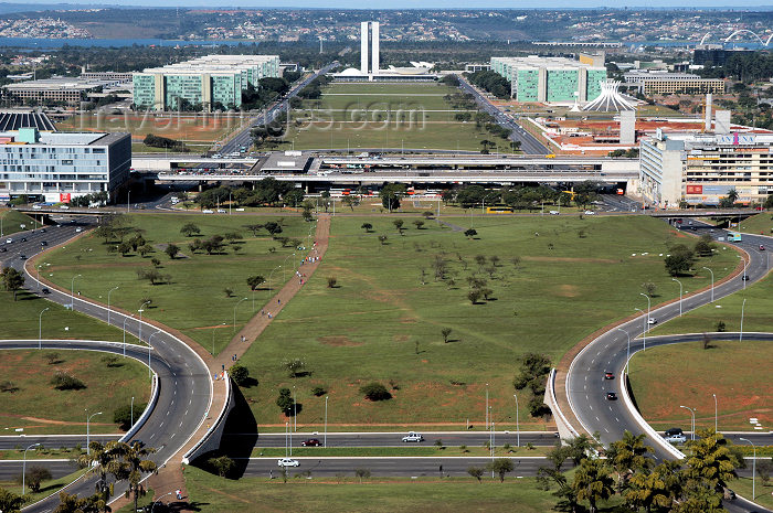 brazil341: Brazil / Brasil - Brasilia: view from the TV tower - ministries - Espanada dos Ministérios - photo by M.Alves - (c) Travel-Images.com - Stock Photography agency - Image Bank