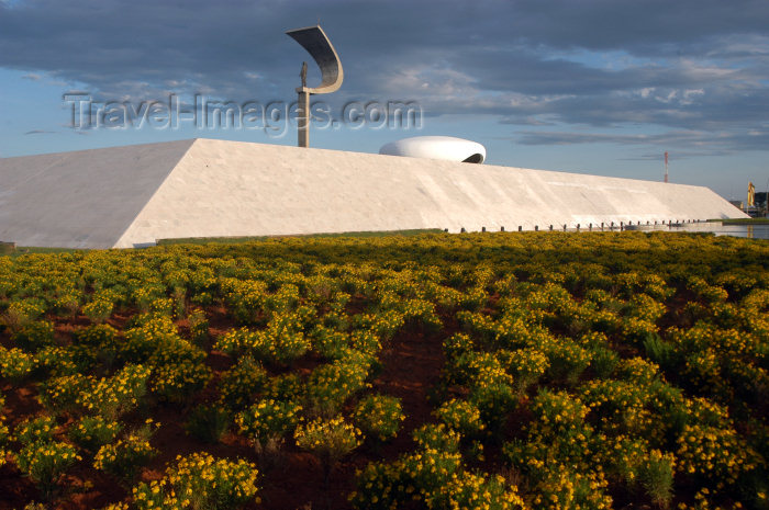 brazil361: Brazil / Brasil - Brasilia: vegetation by the Juscelino Kubitschek de Oliveira mausoleum / vegetação - photo by M.Alves - (c) Travel-Images.com - Stock Photography agency - Image Bank