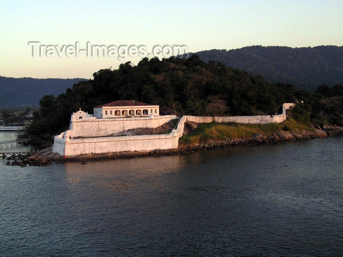 brazil401: Brazil / Brasil - Santos - SP: Portuguese colonial fort at the harbour entrance - Ponta  da Fortaleza - photo by Captain Peter - (c) Travel-Images.com - Stock Photography agency - Image Bank