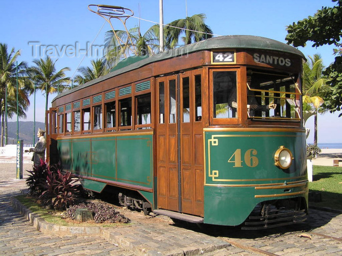 brazil402: Brazil / Brasil -  Santos - SP: old tram / velho bonde - 42, para Santos - photo by Captain Peter - (c) Travel-Images.com - Stock Photography agency - Image Bank
