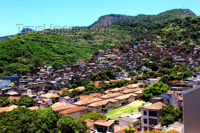 brazil414: Rio de Janeiro, Brazil: Turano favela and surrounding hills | Favela do Turano e as montanhas - photo by L.Moraes - (c) Travel-Images.com - Stock Photography agency - Image Bank