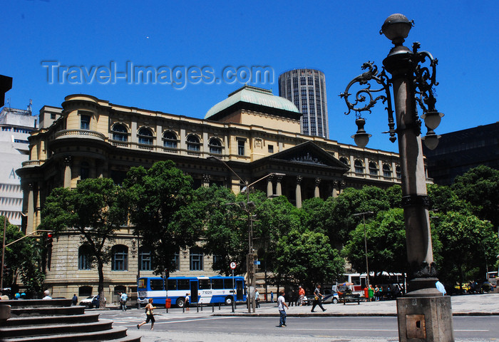 brazil420: Rio de Janeiro, Brazil: National Library - the Largest in Latin America - initiated with the Royal Library of Portugal - Avenida Rio Branco | biblioteca nacional, a maior da América Latina, fundada a partir da colecção da Real Biblioteca de Portugal - photo by L.Moraes - (c) Travel-Images.com - Stock Photography agency - Image Bank