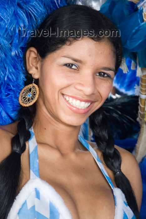 brazil432: Parintins, Amazonas, Brasil / Brazil: a starlet's smile - Boi-Bumbá folklore festival - Boi Caprichoso troupe / Festival Folclórico de Parintins - Bumba Meu Boi - photo by D.Smith - (c) Travel-Images.com - Stock Photography agency - Image Bank