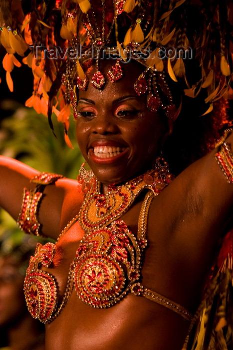 brazil448: Rio de Janeiro, RJ, Brasil / Brazil: exuberant mulata - Carnival dancer - Mocidade Independente de Padre Miguel samba school / escola de samba Mocidade Independente de Padre Miguel - photo by D.Smith - (c) Travel-Images.com - Stock Photography agency - Image Bank
