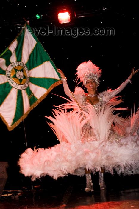 brazil451: Rio de Janeiro, RJ, Brasil / Brazil: flag-bearer  - Carnival dancer - Mocidade Independente de Padre Miguel samba school / escola de samba Mocidade Independente de Padre Miguel - porta-bandeira - photo by D.Smith - (c) Travel-Images.com - Stock Photography agency - Image Bank