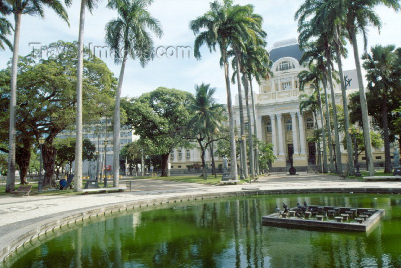 brazil67: Brazil / Brasil - Recife / REC (Pernambuco): gardens of the palace of justice / jardins do palácio da justiça - Praça da República - photo by Francisca Rigaud - (c) Travel-Images.com - Stock Photography agency - Image Bank