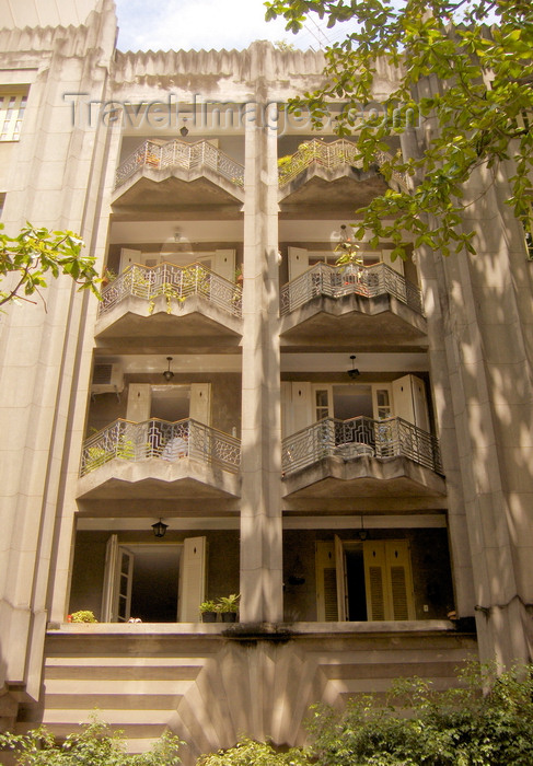 brazil72: Rio de Janeiro, RJ, Brasil / Brazil: Art Deco building in Lido / fachada Art Deco no Lido - photo by S.West - (c) Travel-Images.com - Stock Photography agency - Image Bank