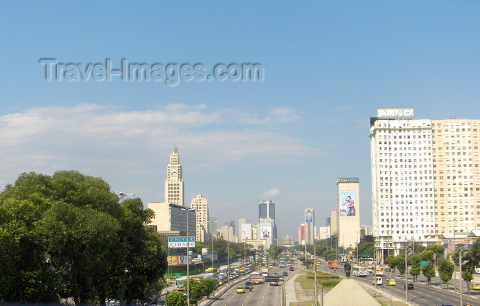 brazil73: Rio de Janeiro, RJ, Brasil / Brazil: President Vargas avenue - inaugurated in 1950, while Rio was still the capital / Avenida Presidente Vargas - edifício ARNO - photo by S.West - (c) Travel-Images.com - Stock Photography agency - Image Bank