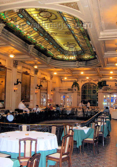 brazil74: Rio de Janeiro, RJ, Brasil / Brazil: Confeitaria Colombo -  Art Nouveau at Restaurante Cristóvão - photo by S.West - (c) Travel-Images.com - Stock Photography agency - Image Bank