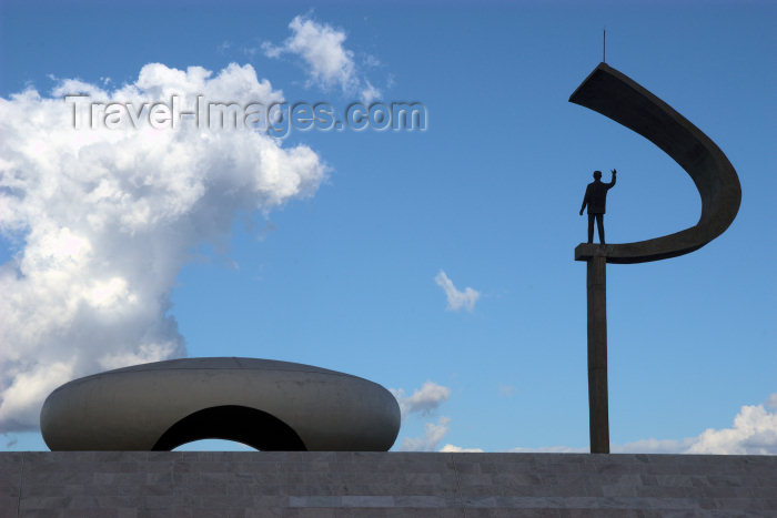 brazil84: Brazil / Brasil - Brasilia / BSB (DF): President Juscelino Kubitschek de Oliveira mausoleum - JK - architect: Oscar Niemeyer - photo by M.Alves - (c) Travel-Images.com - Stock Photography agency - Image Bank
