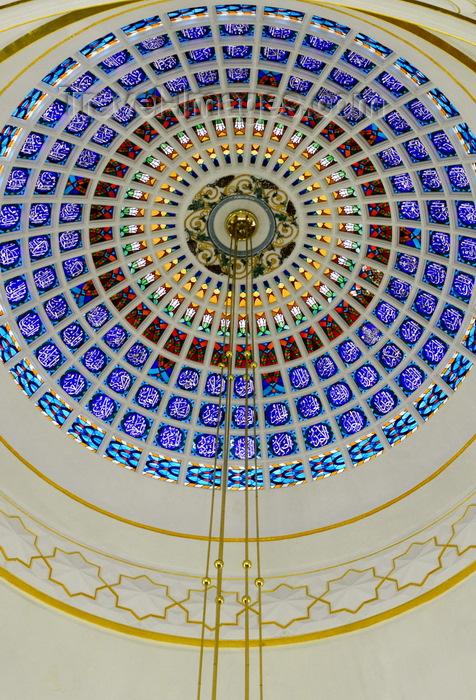 brunei20: Bandar Seri Begawan, Brunei Darussalam: Sultan Omar Ali Saifuddin mosque - dome interior - photo by M.Torres - (c) Travel-Images.com - Stock Photography agency - Image Bank