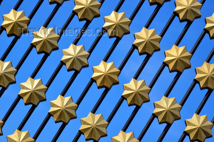 brunei59: Bandar Seri Begawan, Brunei Darussalam: pattern of eight-pointed stars, known in Islam as Rub el Hizb - Jame Asr Hassanil Bolkiah mosque - photo by M.Torres - (c) Travel-Images.com - Stock Photography agency - Image Bank