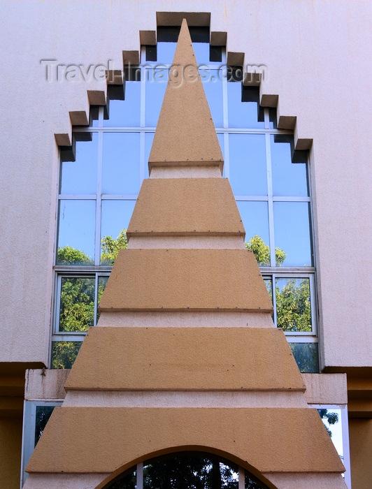 burkina-faso59: Ouagadougou, Burkina Faso: 'Maison de l'Entreprise' building, MEBF - Chamber of Commerce compound - Christmas tree façade - photo by M.Torres - (c) Travel-Images.com - Stock Photography agency - Image Bank
