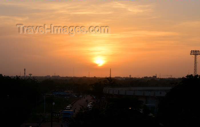 burkina-faso70: Ouagadougou, Burkina Faso: sunset over the Municipal Stadium - skyline - photo by M.Torres - (c) Travel-Images.com - Stock Photography agency - Image Bank