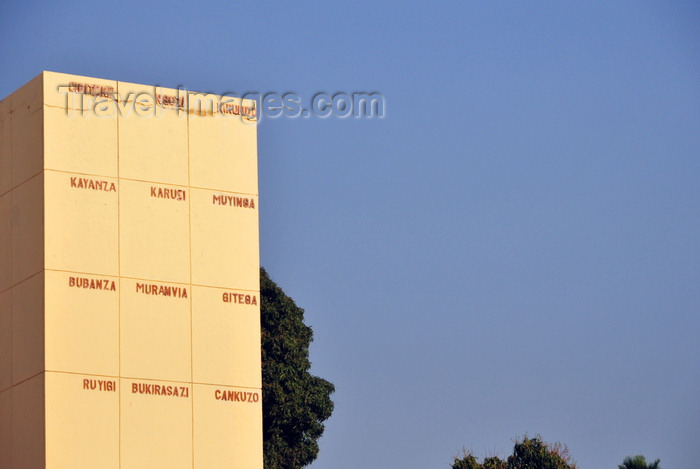 burundi13: Bujumbura, Burundi: Independence Monument - names of the municipalities - photo by M.Torres - (c) Travel-Images.com - Stock Photography agency - Image Bank