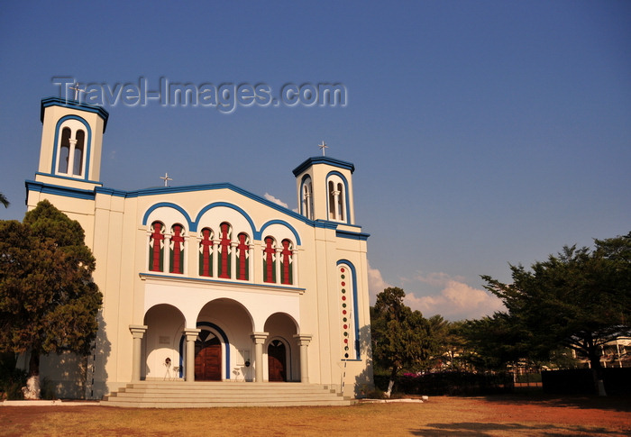 burundi15: Bujumbura, Burundi: St. George's Greek Orthodox Church - façade and garden - Greek Orthodox Patriarchate of Alexandria and All Africa - photo by M.Torres - (c) Travel-Images.com - Stock Photography agency - Image Bank