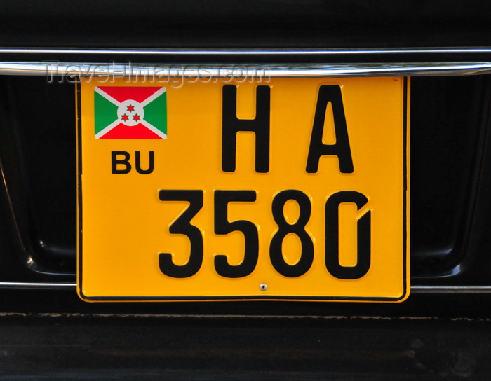 burundi38: Bujumbura, Burundi: Burundian car license plate - photo by M.Torres - (c) Travel-Images.com - Stock Photography agency - Image Bank