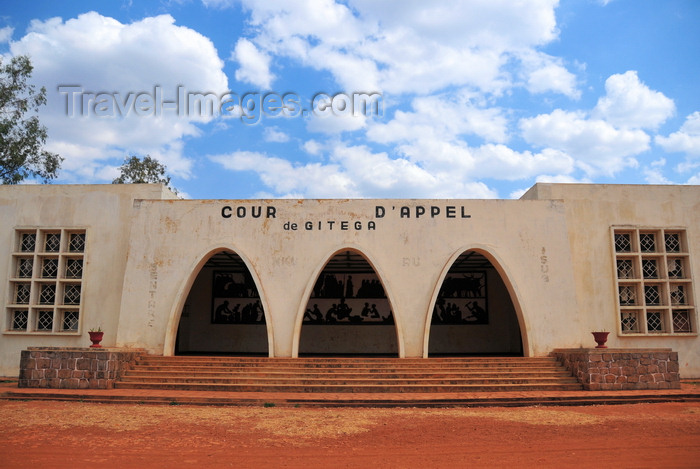 burundi53: Gitega / Kitega, Burundi: Belgian colonial architecture - arches of the Court of Appeal - Place de la révolution - Cour d'Appel - photo by M.Torres - (c) Travel-Images.com - Stock Photography agency - Image Bank