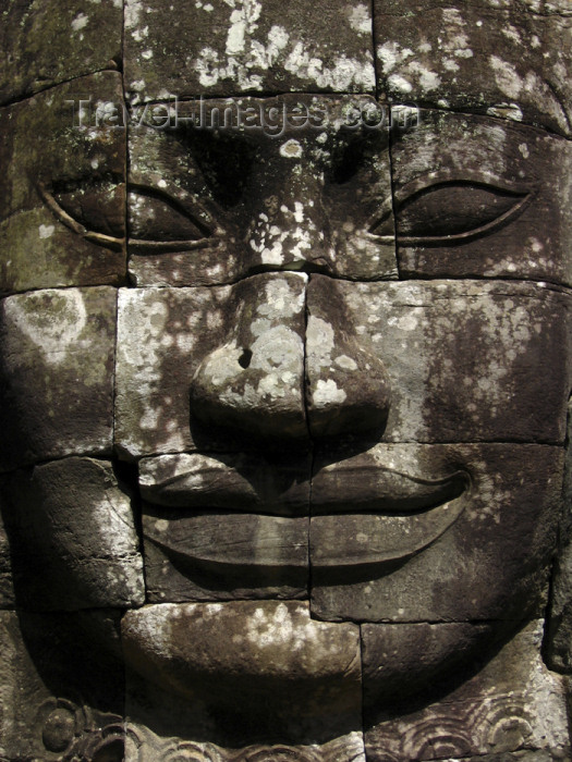 cambodia119: Angkor, Cambodia / Cambodge: Bayon - Giant sculpted faces of Jayavarman VII (Angkor Thom) - photo by M.Samper - (c) Travel-Images.com - Stock Photography agency - Image Bank
