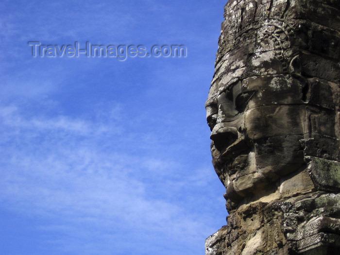 cambodia120: Angkor, Cambodia / Cambodge: Bayon - Avalokitesvara and the sky (Angkor Thom) - photo by M.Samper - (c) Travel-Images.com - Stock Photography agency - Image Bank