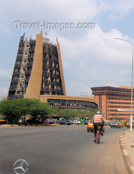 cameroon27: Yaoundé, Cameroon: Telecoms ministry - Ministère des postes et télécommunications - photo by B.Cloutier - (c) Travel-Images.com - Stock Photography agency - Image Bank